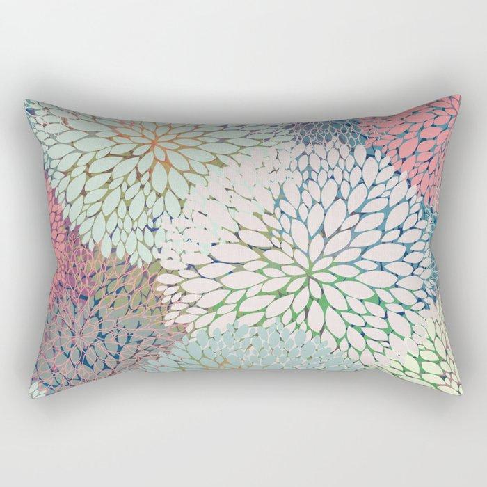 Abstract Floral Petals 3 Rectangular Pillow
