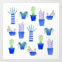succulents Art Prints featuring Succulents by Nic Squirrell