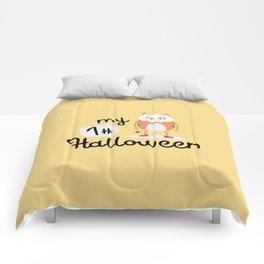 My First Halloween Cat Skull T-Shirt Dqmsm Comforters
