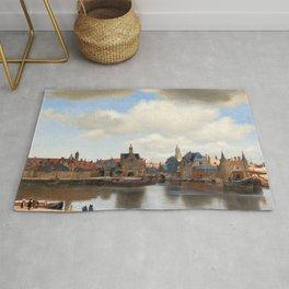 """Johannes Vermeer """"View of Delft"""" Rug"""