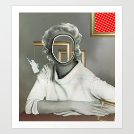 The truth is dead 88 · Aussicht, die Frau am Fenster Art Print