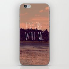 Explore With Me iPhone & iPod Skin