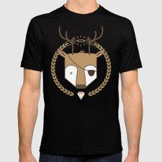 Mr. Deer MEDIUM Mens Fitted Tee Black