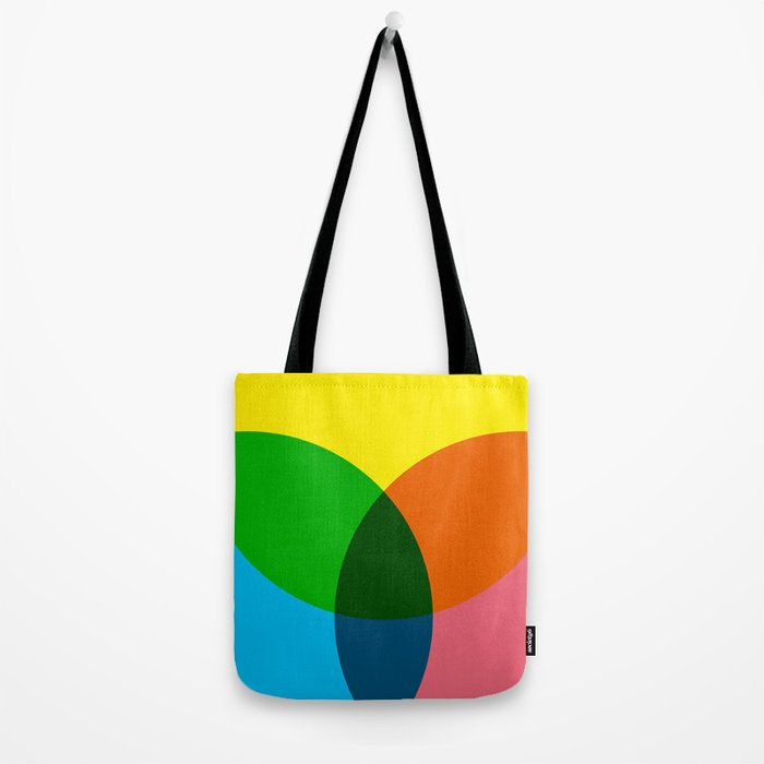 rgb flower Tote Bag