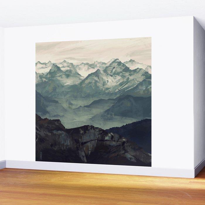 Mountain Fog Wall Mural