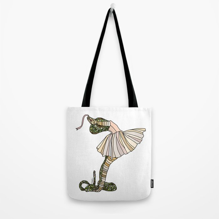 Snake Ballerina Tutu Tote Bag