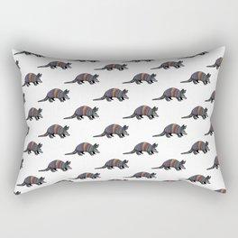 Rainbow Armadillo Rectangular Pillow
