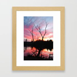 JAN SUN SET Framed Art Print