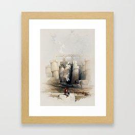 Karnak, Egypt (1846) Framed Art Print