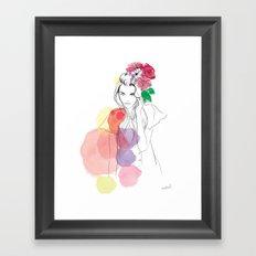 Flower Crowns Framed Art Print