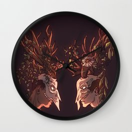 all my friends are heathens Wall Clock
