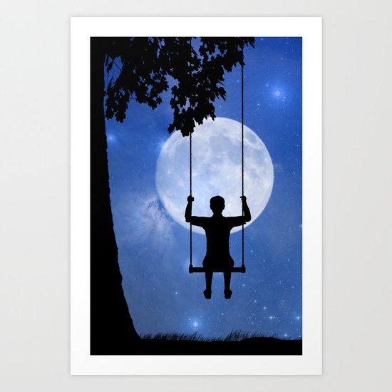 Childhood dreams, The Swing Art Print