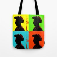 popart Tote Bags featuring Popart punk by Kathleen Schulze