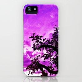 A dash of purple in the sky. iPhone Case