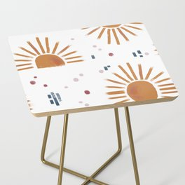 sunbursts Side Table