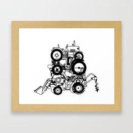 FARM TRACTORS Wheels Framed Art Print
