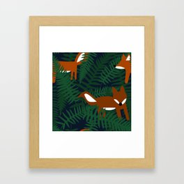 Foxes and Ferns Framed Art Print