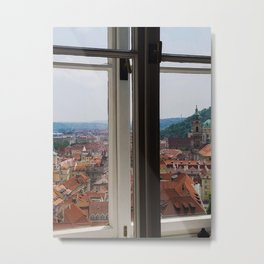Through the Windows of Prague Castle Metal Print