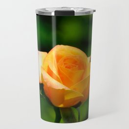 Yellow Orange Rose by Teresa Thompson Travel Mug