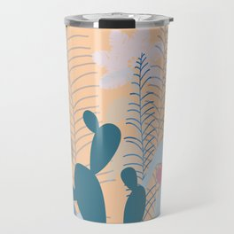 Blue Cacti Garden #Society6 #buyart #decor Travel Mug