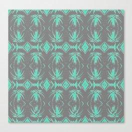 Tiki Vintage Green Rhythmic Dance Canvas Print