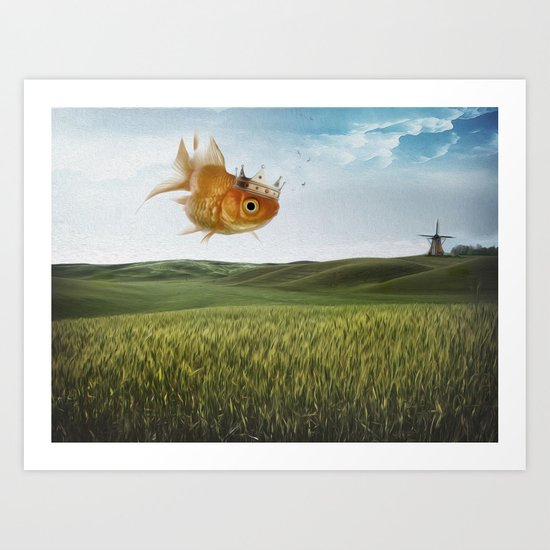 king fish Art Print