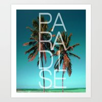 paradise Art Prints featuring PARADISE by Chrisb Marquez