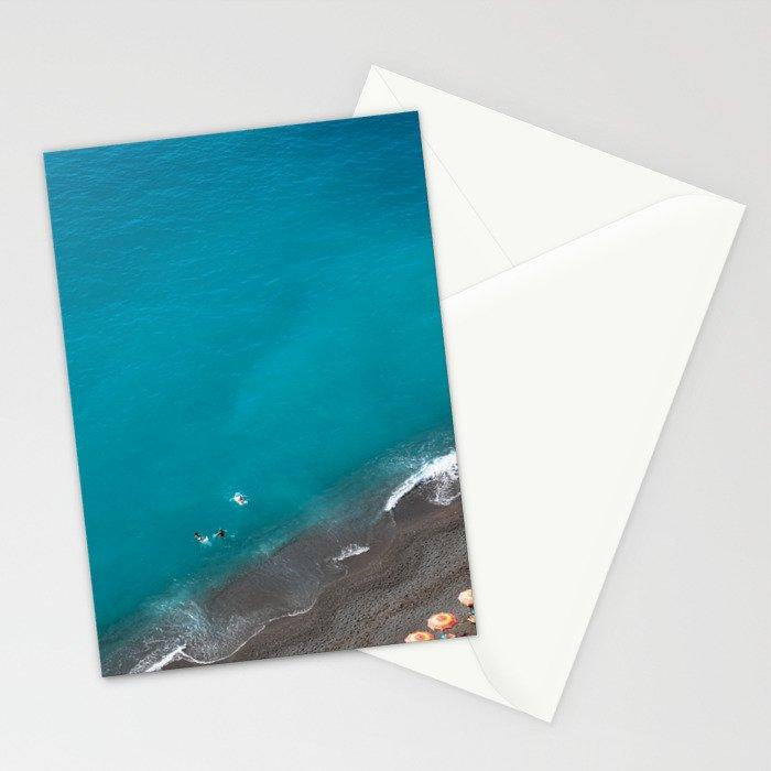 Positano Beach Umbrellas Stationery Cards