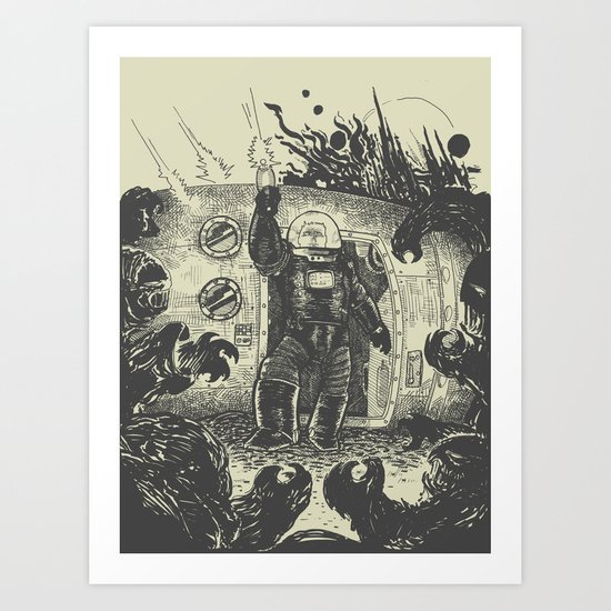 Space slugs die easy Art Print