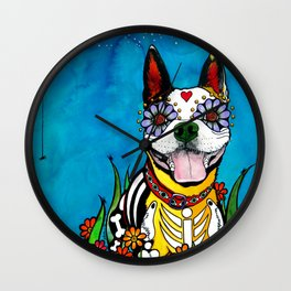 Gilroy the Boston Terrier Wall Clock