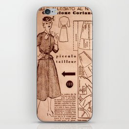 1950's vintage sewing pattern VIII iPhone Skin