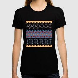 Inca Ethnic Pattern Fish and Birds T-shirt