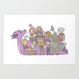 Dragon Age - Origins Companions Art Print