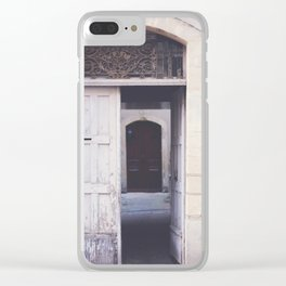 Cottage Doors in Bayeux Clear iPhone Case