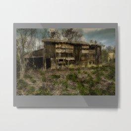 (Hand Colored B&W) Abandoned Barn Metal Print