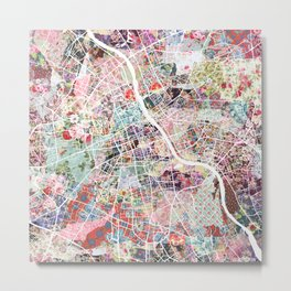 Warsaw map Metal Print