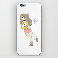 puppycat iPhone & iPod Skins featuring Bee & Puppycat by rhinestonepixel
