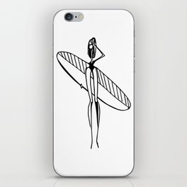 girl surfer iPhone Skin