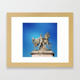 STATUARY Framed Art Print