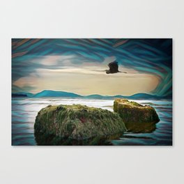 With No New Nest in Which to Settle. Canvas Print