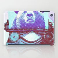 writer iPad Cases featuring Grizzly writer by RedGoat