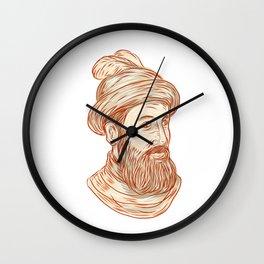 Francisco Pizarro Drawing Wall Clock