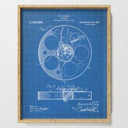 Film Reel Patent - Classic Cinema Art - Blueprint Serving Tray