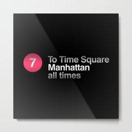 NYC 7 Subway Metal Print
