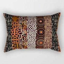Geometric African Pattern Rectangular Pillow