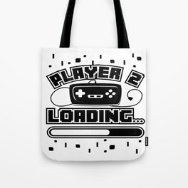 Player 2 Loading Baby Announcement Pregnancy Gift Tote Bag
