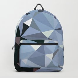 Abstract Polygons Blue Backpack