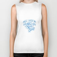 detroit Biker Tanks featuring Detroit by Tshirt-Factory