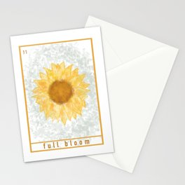 full bloom tarot | sunflower oracle  Stationery Cards