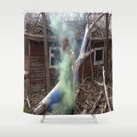 dreamer Shower Curtains featuring Dreamer  by Julia Aviles